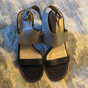 VIA SPIGA Baris Leather Two Tone Sandals - Sz 8